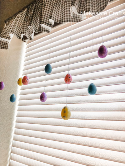 Easter Egg Craft   Hang for cute decor