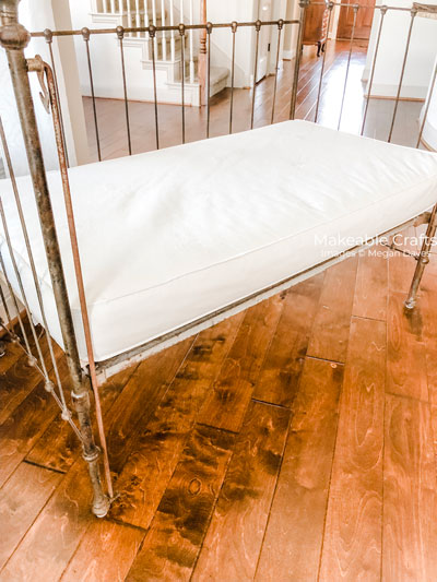 Repurpose a Crib | Adding a crib mattress