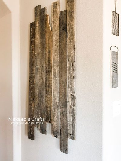 pallet wood wall decor | attached to the wall
