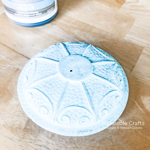 Flipping Thrift Store Items | applying glaze