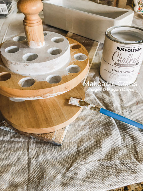 Scissor Holder | painting with rust-oleum chalked paint