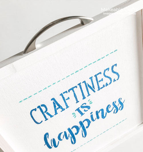 double sided craft room sign | Adding the handle