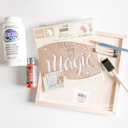 double sided craft room sign | supplies for back