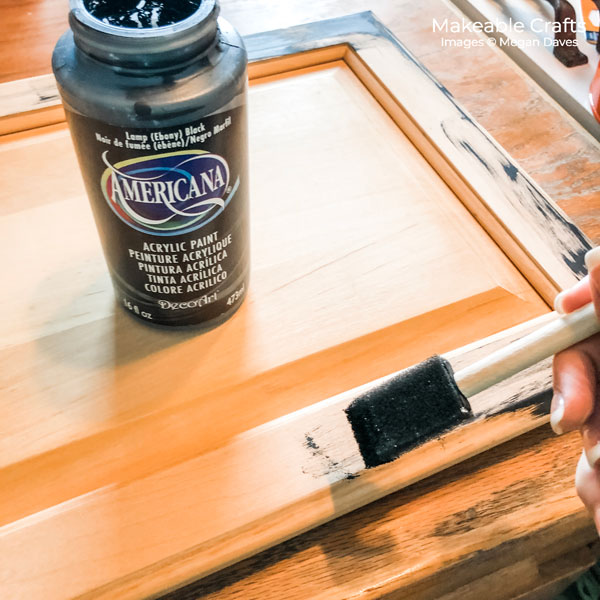 Old Cabinet Door Craft Ideas | paint parts of your cabinet black