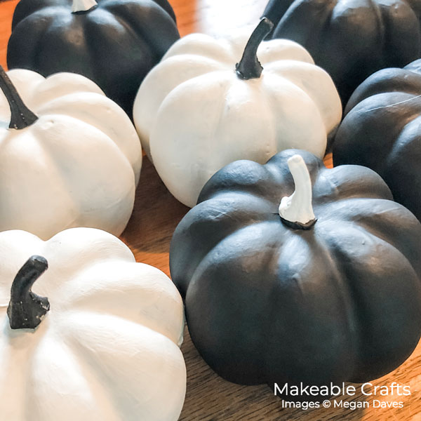painting dollar store pumpkins | mix and match your stems