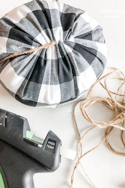 fabric pumpkins | add your twine