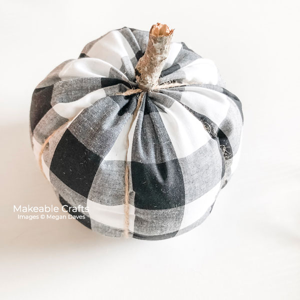 fabric pumpkins | finished pumpkin
