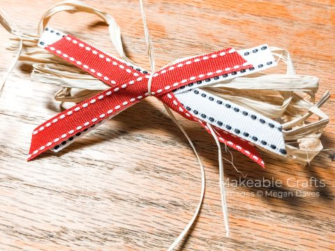 remaking a junk store find | making a scrap bow