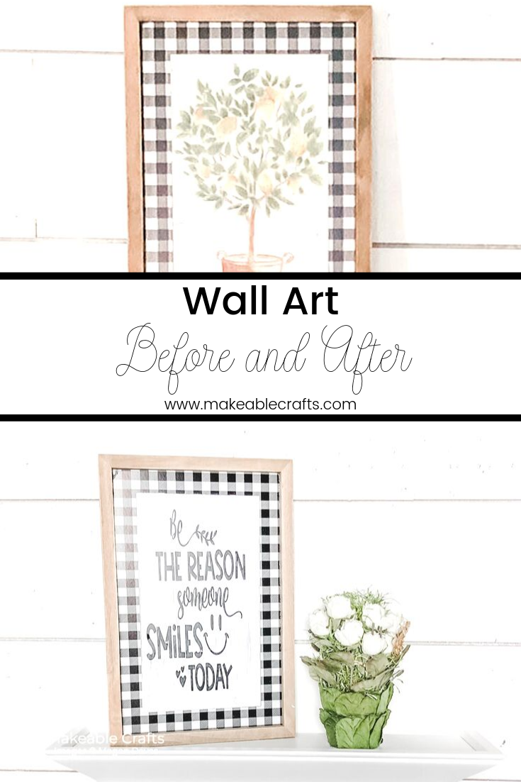 Remaking wall art | before and after