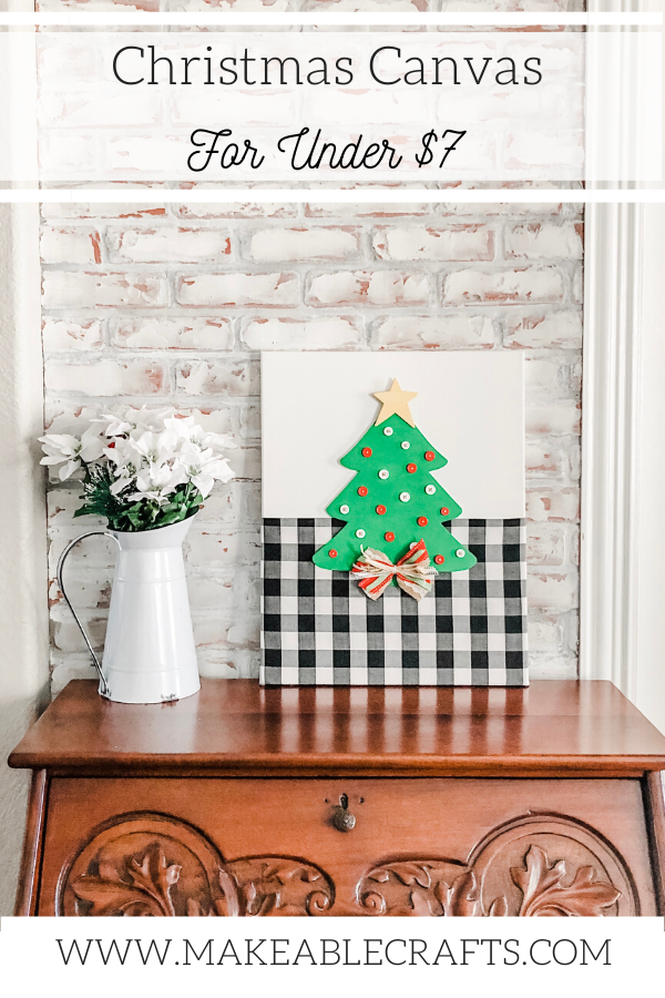 Christmas canvas wall art that stretches your budget with a brilliant secret - click through to learn more!