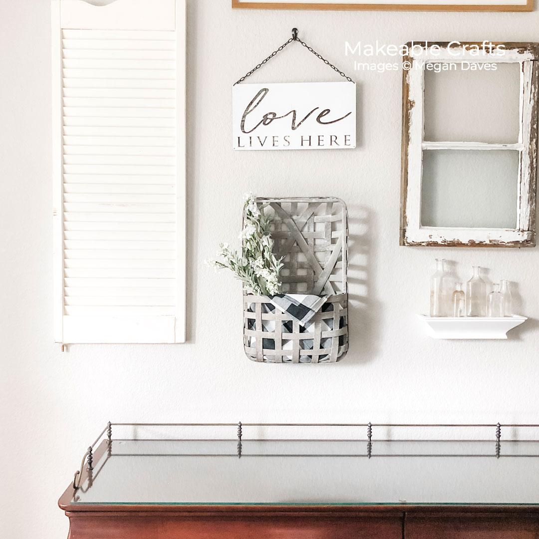 dining room makeover | floral basket