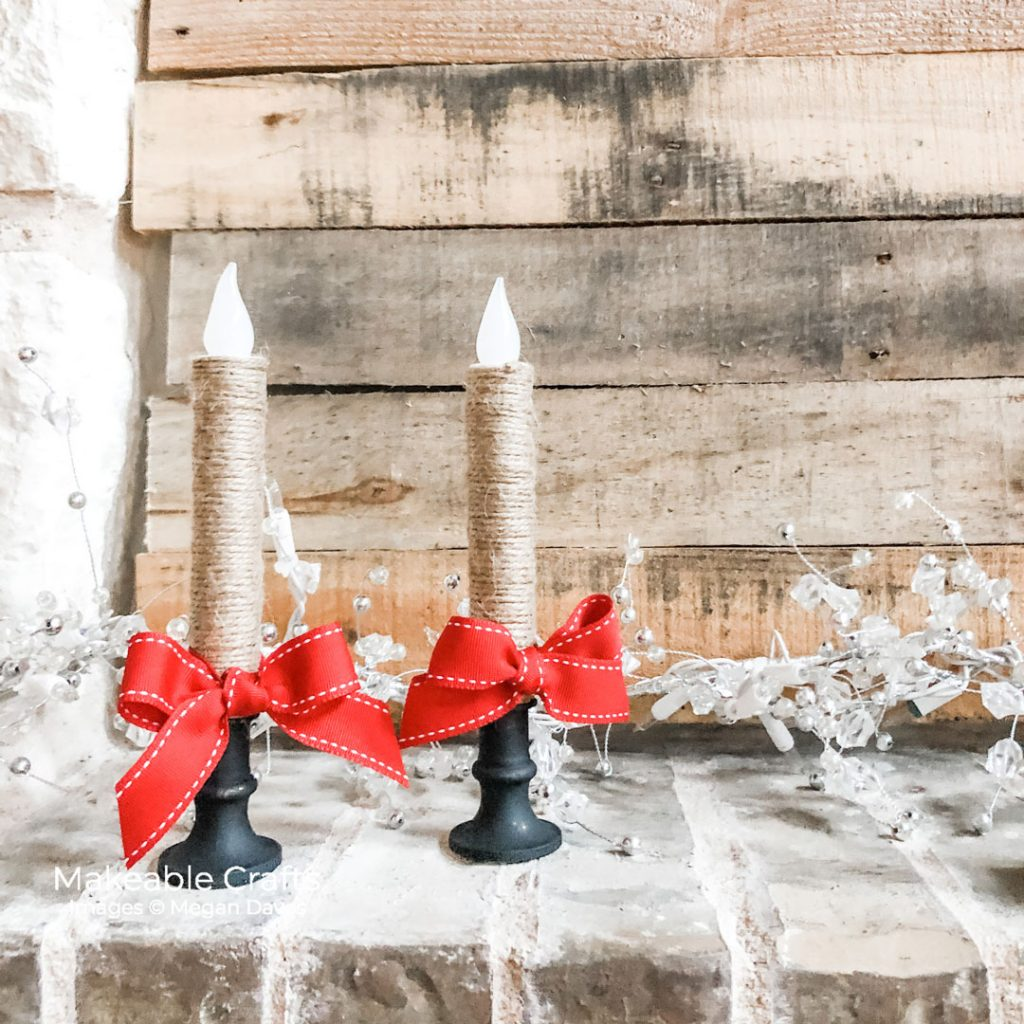 Click through to see how I take dollar store candles to on trend decor with an instant upgrade!