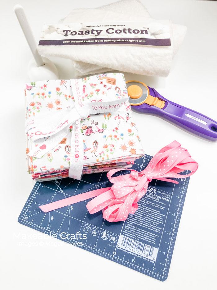 Make Adorable Fabric Coasters