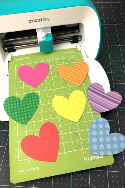 Rainbow Hearts on Cricut Joy