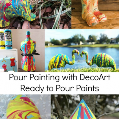 Lots of Pour Painting Ideas and Giveaway!