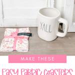 make fabric coasters