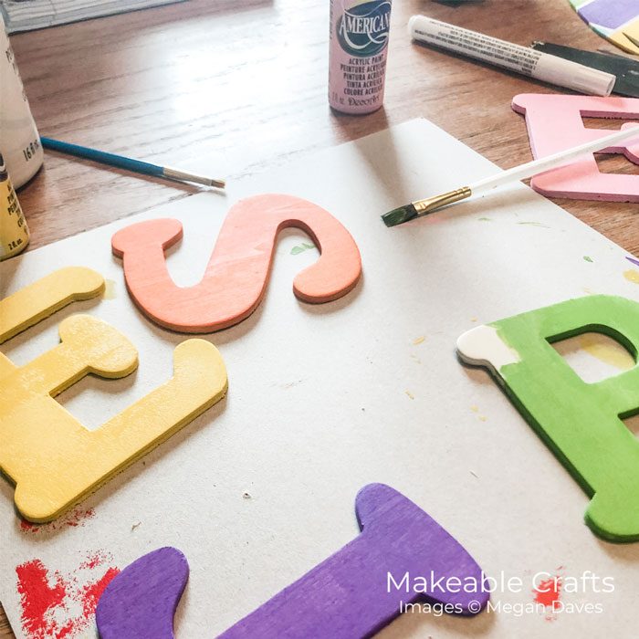 paint your letters for easy diy home decor