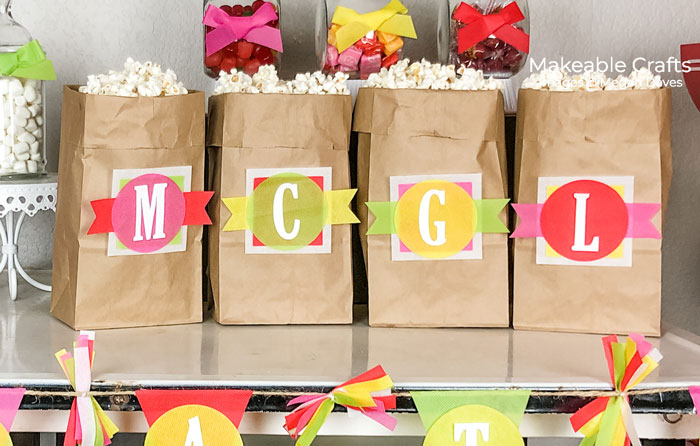 decorating your popcorn treat bags