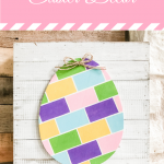 easter decor with painted eggs