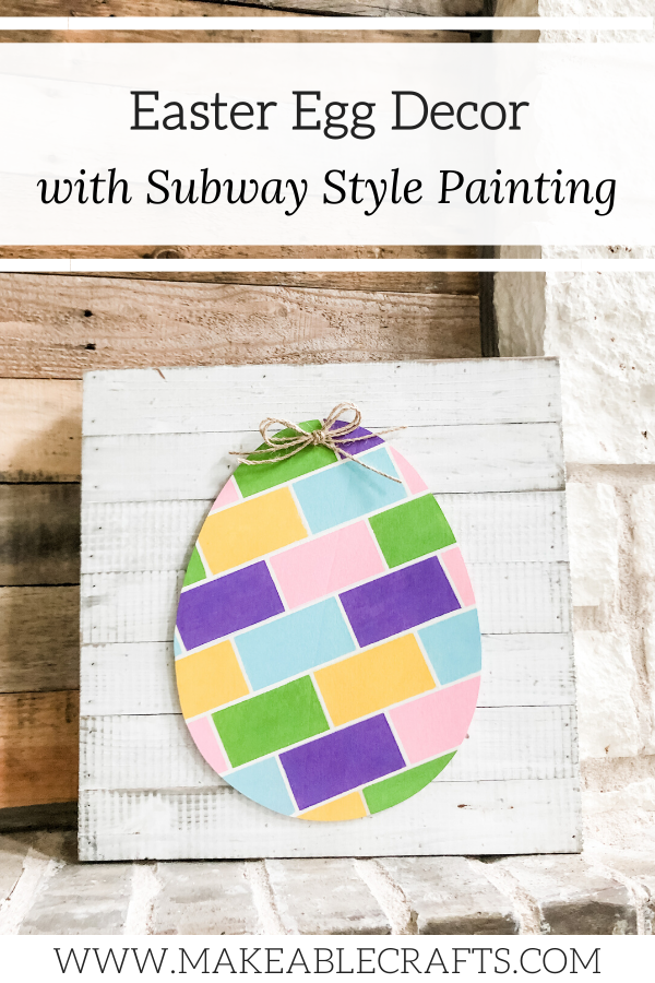 Painted Wood Eggs For Easter Home Decor
