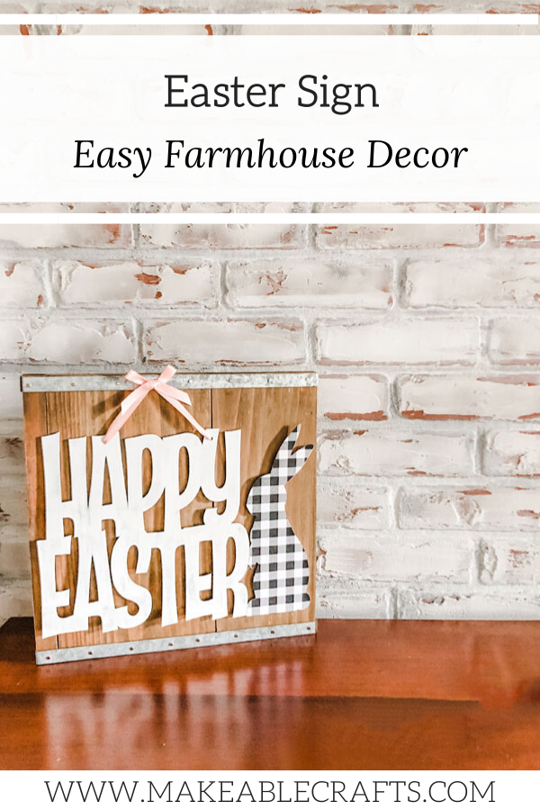 Farmhouse style Easter Decor