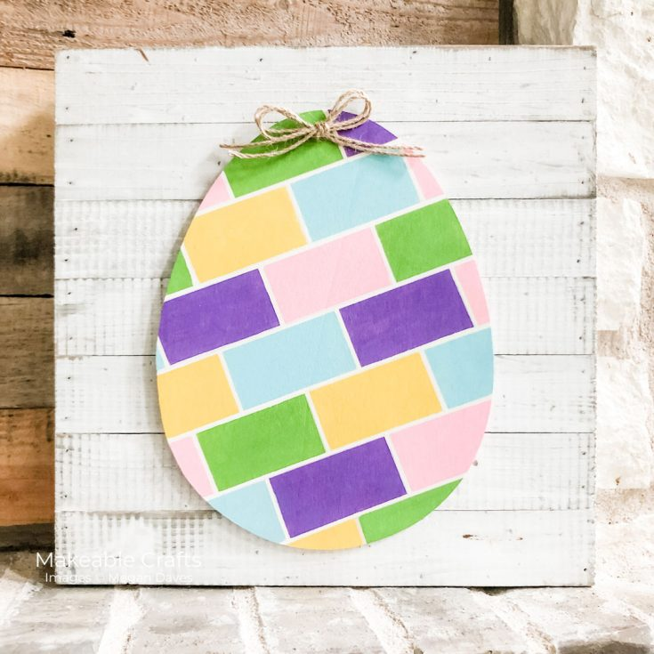 painted Easter eggs for home decor projects