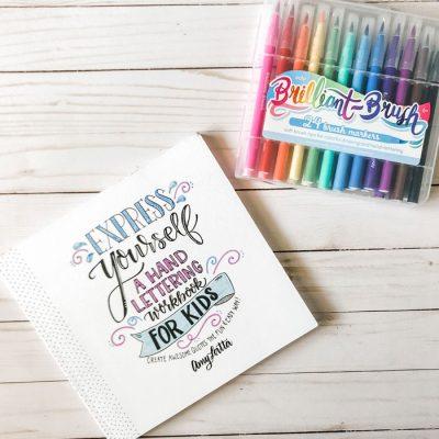 Brush Marker Art  – A Quick Crafty Fix!