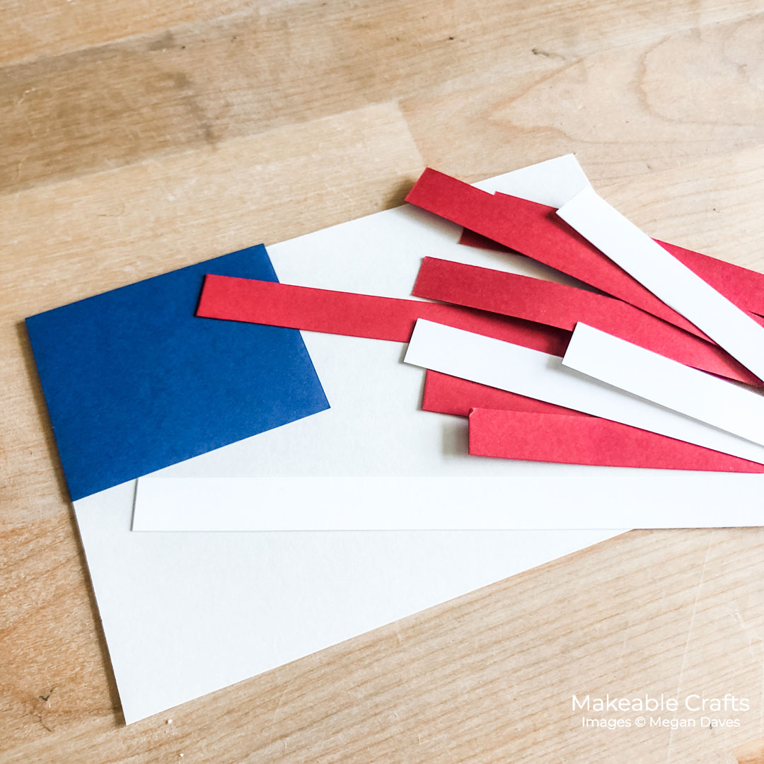 Apply card stock to your card stock background