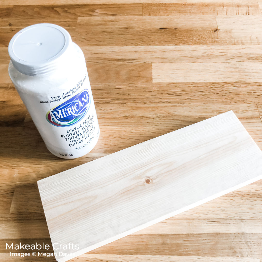 painting your wood with white paint