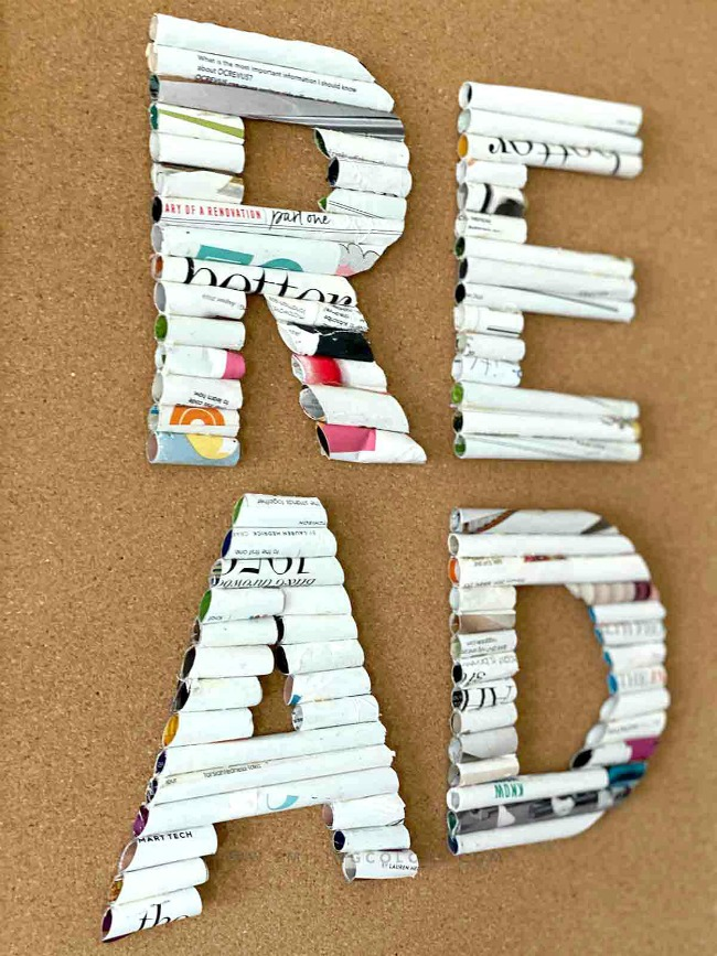 Recycled crafts don't get much more inventive than these fun decor letters made from old magazines - come see how!