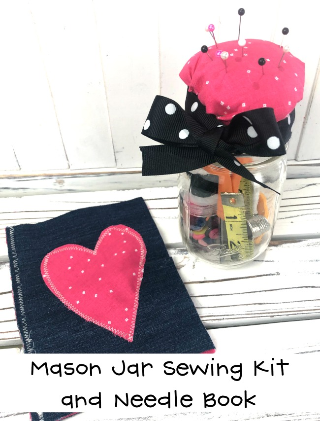 Recycled crafts projects for fans of sewing - make this cute needle book and pin cushion in an afternoon!