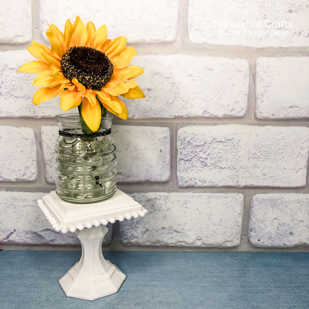 This gorgeous home decor is all made from recycled crafts materials - come see how to turn trash to treasure!