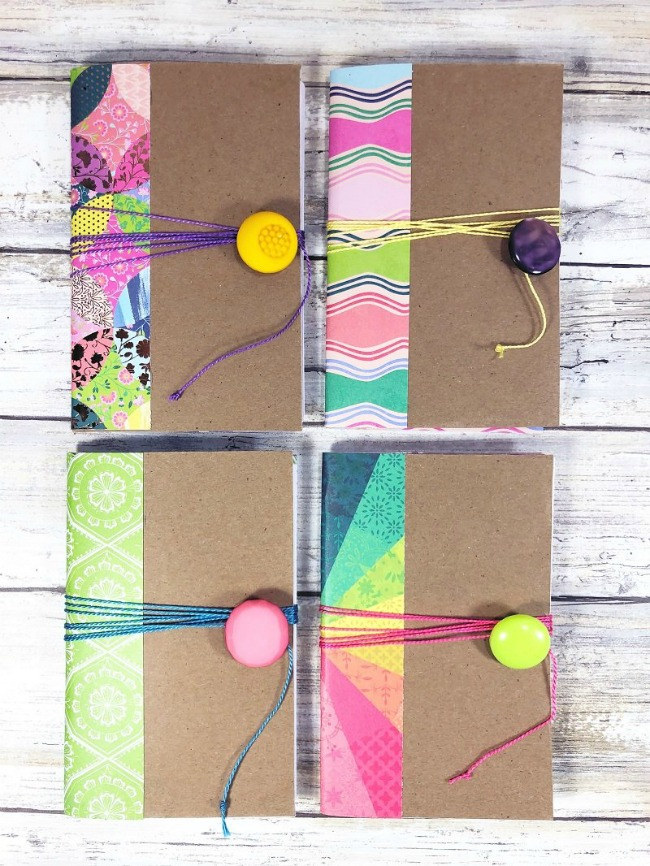 Giftable notebooks from cereal boxes taking recycled crafts to a whole new level!