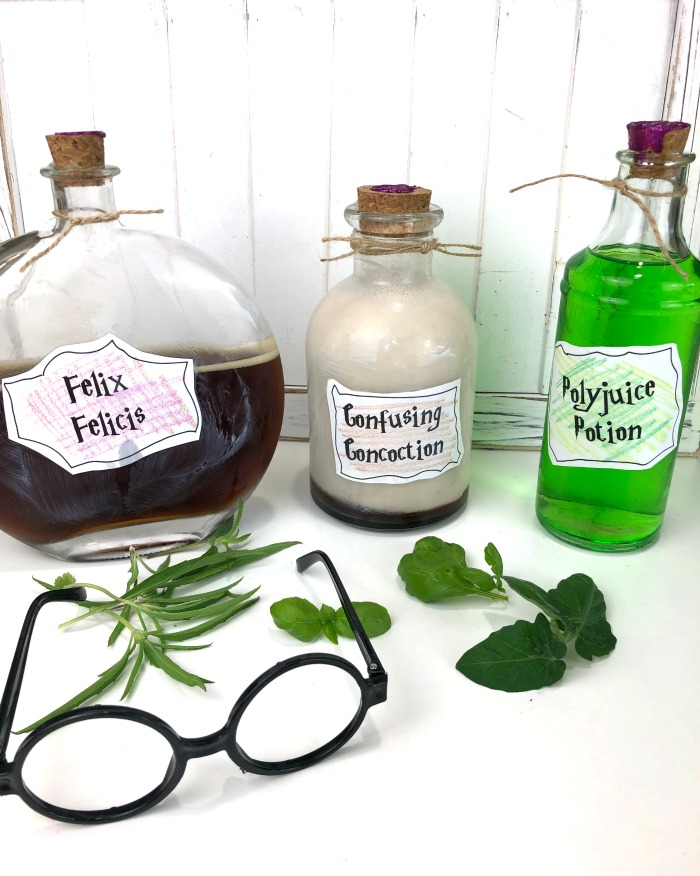 How stinkin' CUTE are these Harry Potter potion bottles? Come get the details and a free label printable!