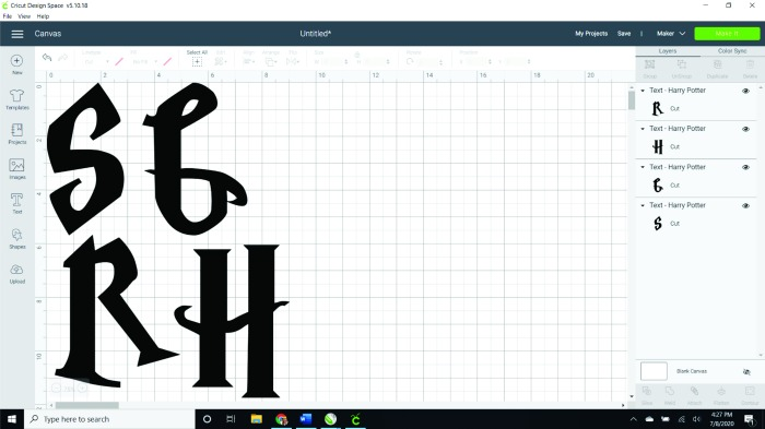 Use these letters in a Harry Potter font to create a fun banner in minutes!