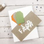 Card stock shapes and die cut letters to be used to make a DIY fall home decor accent sign