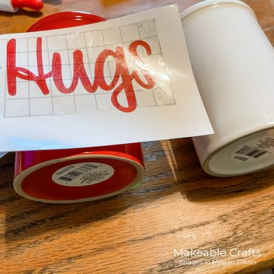 DIY Coffee Mugs With Vinyl For Valentine's Day