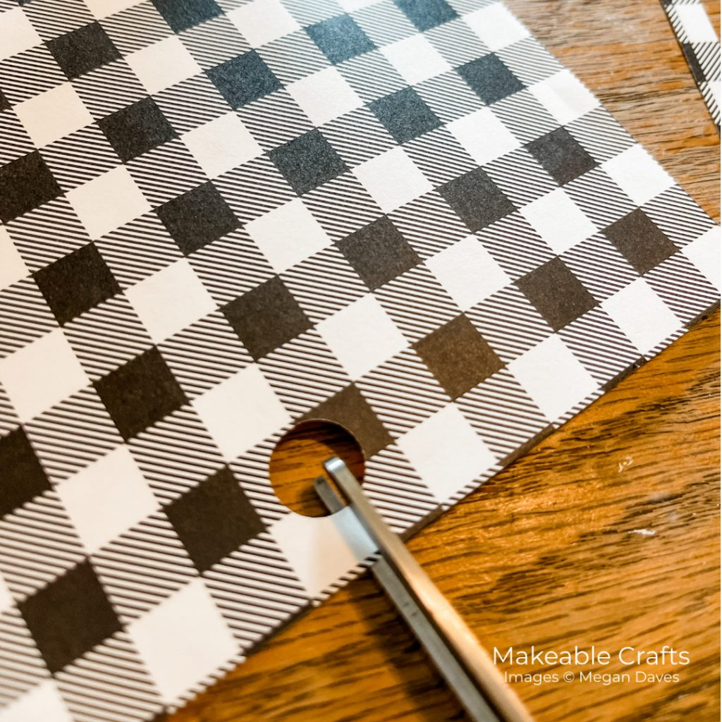 trim your patterned paper