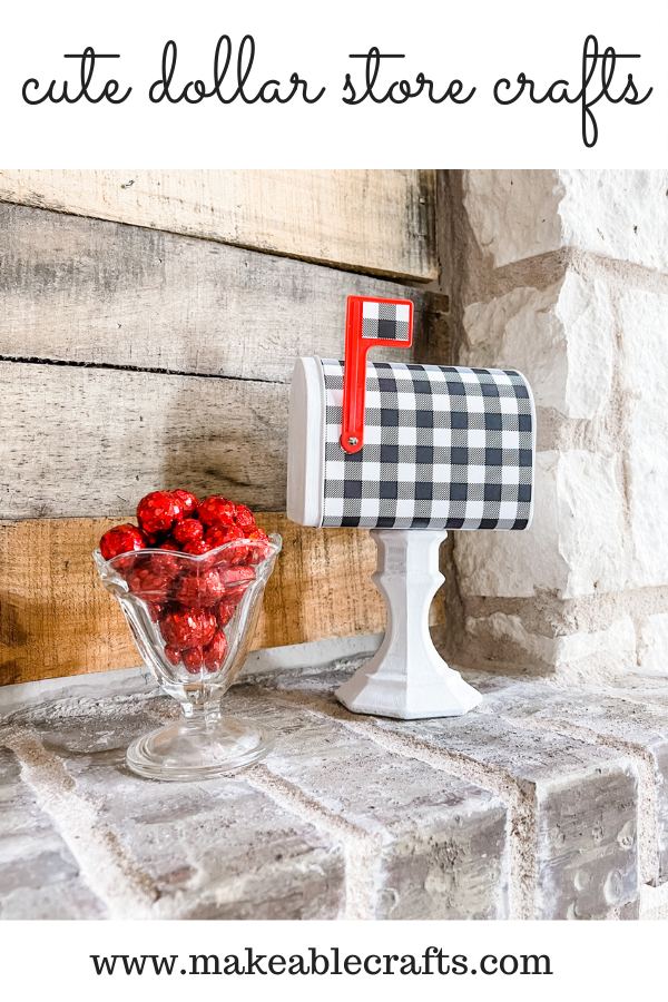 cute dollar store craft using mini mailboxes