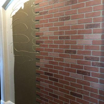 Faux Brick Wall DIY Project